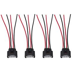 4 Packs Ignition Coil Female Connector Plug Harness Pigtail
