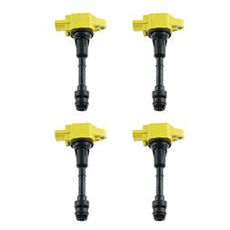 4pcs quality Yellow Ignition Coils for 2007-2012 Infiniti FX