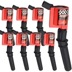Bravex 8 Pack Curved Boot Ignition Coil 15% More Energy for