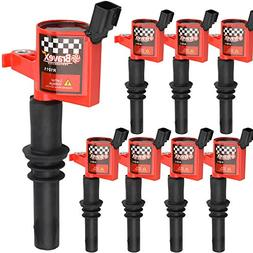 Bravex 8 PACK Straight Boot Ignition Coils 15% More Energy F