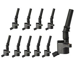 Complete Pack of 10 Ignition Coils for Ford Super Duty E-350