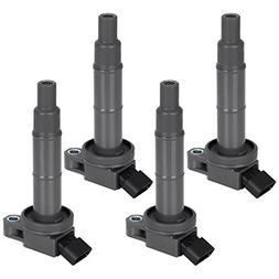 FAERSI Ignition Coil Pack of 4 Replaces OE# UF333, 90919-022