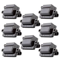 ECCPP Ignition Coils Pack of 8 Compatible with Cadillac Chev