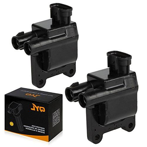2pcs ignition spark coil pack fits toyota
