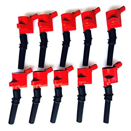 curved boot ignition coil red for ford