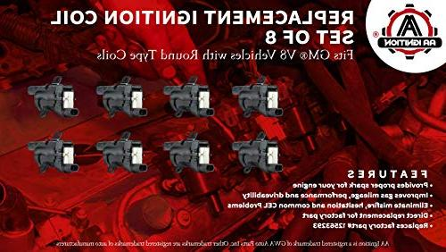 Ignition of 8 Fits V8 Chevy 2500, Tahoe, GMC Sierra, 1500, 2500 & - Replaces# C1251, 19005218, GN10119, 10457730