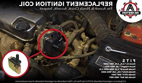 Ignition Coil 30510-PT2-006, 30510-p73-a01 Acura Civic, 1.8L,