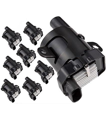 round ignition coils pack of 8
