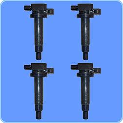 New AD AutoParts High Performance Ignition Coil Set of 4 For