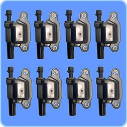 New AD Auto Parts High Performance Ignition Coil Set of 8 Fo