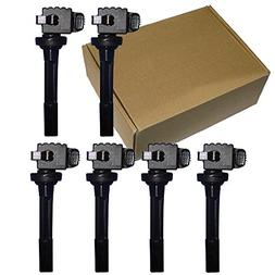New Hitachi Ignition Coil Set of 6