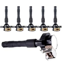 SCITOO Pack of 6 Ignition Coil fit for BMW/Land Rover/Rolls-