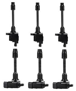 Pack of 6 Ignition Coils for Front Rear Nissan Maxima Infini