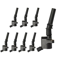 pack of 8 curved boot ignition coil