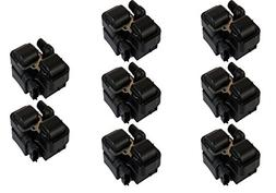 Pack of 8 Ignition Coils for Mercedes-benz C CL CLK ML SL SL