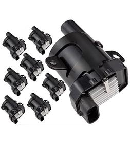 Round Ignition Coils Pack of 8 for Chevy Silverado 1500 2500