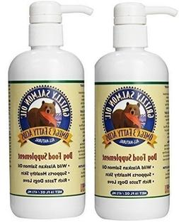Grizzly Salmon Oil All-Natural Dog Food Supplement in Pump-B