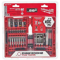 Milwaukee 56-Piece Shockwave Impact Duty Driver Bit Set, 48-